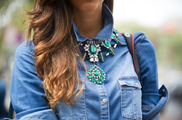 mfw-ss13-denim-shirt-statement-necklace