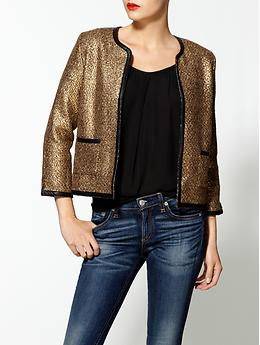 Metallic Ladylike Jacket - Bronze
