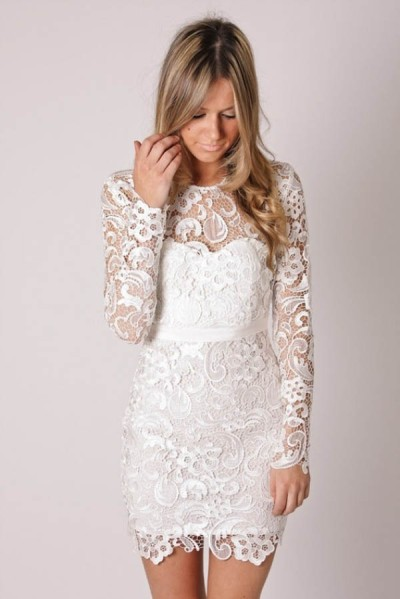Short-Lace-Wedding-Reception-Dress